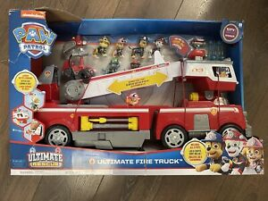 PAW Patrol Ultimate Rescue 64.8cm Fire Truck Playset with Extendable Ladder