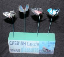 Butterfly Inspirational Sign- Wall Art Word Wisdom Plaque Home Decor Ornament