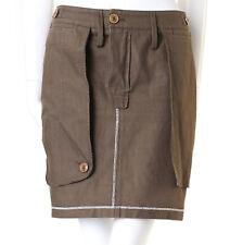 CHRISTIAN DIOR GALLIANO army khaki green reverse constructed skirt US4 UK8 FR36