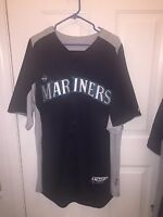 Seattle MARINERS MLB AUTHENTIC MAJESTIC BLUE Cool Base JERSEY Adult