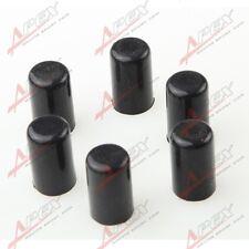 "6 x 8mm 5/16"" Silicone Blanking Cap Intake Vacuum Hose End Bung Plug Caps Black"