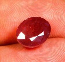 08 Ct Ring Size 100% Natural Ruby Sapphire Faceted Oval Cabochon Gemstone MX107