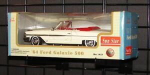 1964 Ford Galaxie 500 64 1:18 Die Cast Car Sun Star