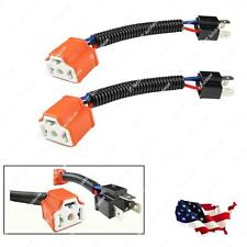 H4 9003 Ceramic Wire Harness Adapters Plug Cable Headlights Connector Extension
