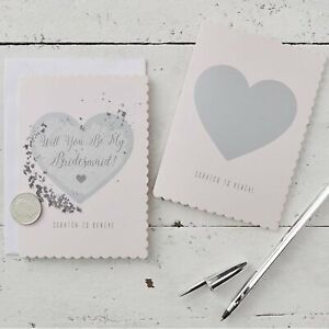 Will You Be My Bridesmaid Scratch & Reveal Cards pk 5