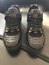 LOUIS VUITTON ACE PYTHON Snake Skin, Patent Leather Sneaker LV Sz10 BrandNew