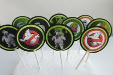 Ghostbusters Cupcake Toppers. Cake decor, party supplies SET OF 12