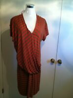 MNG By Mango Size XL New With Tags Red Brown Dress