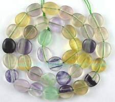 New Nearly 10mm Fluorite Coin Freeform Loose Beads 15''