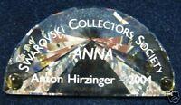 SWAROVSKI CRYSTAL-2004 ANNUAL EDITION ANNA PLAQUE 656142  MInt in box