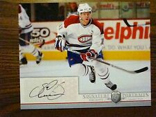 SAKU KOIVU AUTOGRAPHED 8X10 UPPER DECK BE A PLAYER SIGNATURE NHL HOCKEY MONTREAL