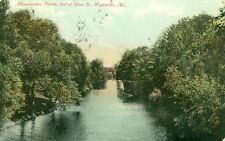 Waterville,ME. The Messalonskee Stream at the foot of Silver Street 1910