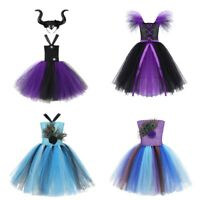Kids Girls Halloween Cosplay Dress Vampire Witch Costume Holiday Party Dress Set