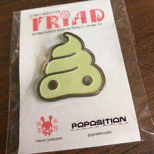 GID + Silver Soft Enamel Poop Pin Collectible from Junko Mizuno's TRIAD
