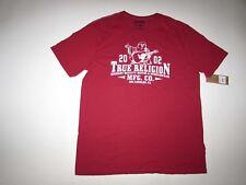 True Religion Men's Friday 2 SS Crewneck T-shirt Size 2xl Ruby Red XXL