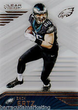 2016 Panini Clear Vision Football Clear Acetate Card #54 Zach Ertz  Eagles