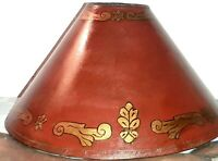 Lampshade Vintage Hand Painted Scroll Design Shade Spanish Revival