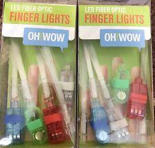 Wemco LED Fiber Optic Finger Lights Assorted Colors  2-Packs of 4