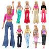 5 pcs Abiti Camicette e 5pcs pantaloni selezionati a caso per Bambola Barbie