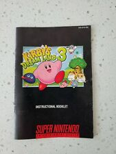 Kirby's Dream Land 3 Super Nintendo SNES Instruction Manual Booklet
