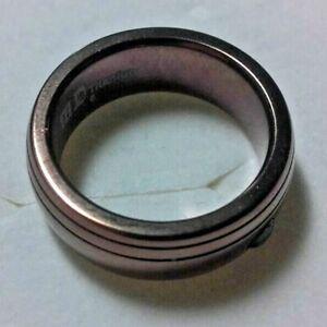 Garnet polished plated titanium unisex ring