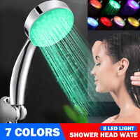 7 Color LED Romantic Light Water Bath Home Bathroom Shower Head Handheld Tool B