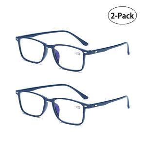 2x Unisex Reading Glasses Men Women Anti Blue Light Reader 1.0 1.5 2.0 2.5 3.0