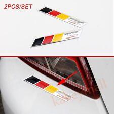 2pcs Aluminum Car Body Decorate Sticker Decal Germany Flag Logo Emblem Stripes