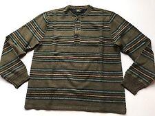 $495 RRL Ralph Lauren Vintage Inspired Striped Cotton Silk Blend Sweater-MEN-XXL