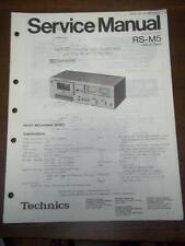 Original Technics Service Manual for the RS-M5 Cassette Deck~Repair