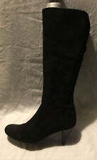 Jones Boot Makers Ladies Knee High Boots UK Size 5 EU Size 38 Black Suede