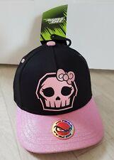 NO FEAR BASEBALL CAP pink glitter INFANTS black SKULL childrens SKELETON girls