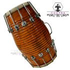 """Dholak Brown Color Nut & Bolts Indian Musical Instrument """"Chopra"""" Brand"""