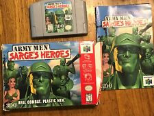 N64 Army Men Sarges Heroes Cartridge Box and Instructions  (Nintendo 64, 1999)