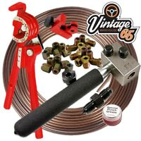 "Classic Car 3/16"" Kunifer Brake Pipe Flaring Line SAE Male & Female Repair Kit"