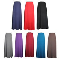 GIRLS MAXI SKIRTS LONG MODESTY SKIRT KIDS CHILDRENS 7-13 YEARS PLAIN TEENAGER