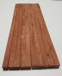 Red gum Strips 400x8x8 timber planks decking model craft boat rail hardwood