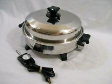"""HEALTH CRAFT Waterless 12"""" Electric OIL Liquid CORE SKILLET K7273 *Excellent*"""