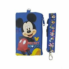 Disney Mickey Mouse ID Holder Lanyard with detachable Coin Purse Fastpass Ticket