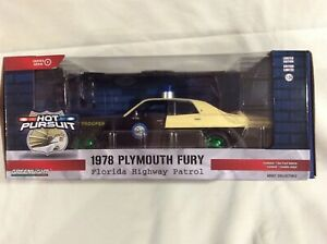 Greenlight Hot Pursuit 1978 Plymouth Fury Florida Highway Patrol Chase NIB