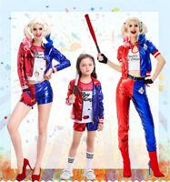 Harley Quinn Cosplay Costume Suicide Squad Uniform Harleen Quinzel Clothes Set