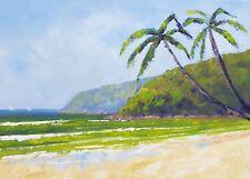 Rod Moore Noosa Beach Original Oil Painting Impressionist Seascape Abstract Art