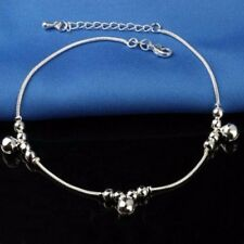 925 Silver Ankle Sterling Anklet Love Chain Bracelet Beach Feet Foot Jewelry US