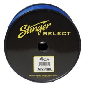 Stinger Select SSVLP4BL Audio Power 4 Gauge Cable Blue Matte 100 ft Spool