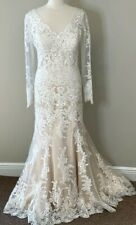 Maggie Sottero bridal gown Melanie Marie Ivory Lace w/ light Gold Dress sleeve