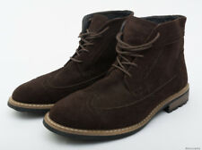 JOSEPH ABBOUD MEN'S BROWN LEATHER CHUKKA ANKLES BOOTS - SIZE 9