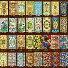 Stickers Window Films Foil Frosted Stained Church Glass PVC Self Adhesive Home