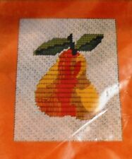 Sylvia Sidney Needlepoint PEAR Picture Kit Sealed Vintage Paragon Needlecraft