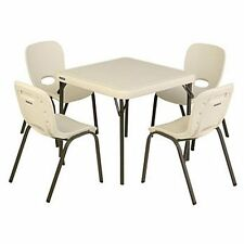 Lifetime Kids Table with 4 Almond Chairs, Home School Or Daycare, Holiday, Play