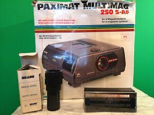 Braun Paximat Multimag 250 S-AF Slide Projector - Excellent Condition & Working